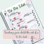 Teaching your child the art of a To Do List